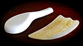 gua sha tools of ceramic & horn